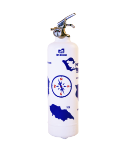 Fire extinguisher design Atlantic white