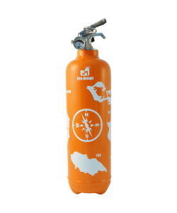 Fire extinguisher design Atlantic orange