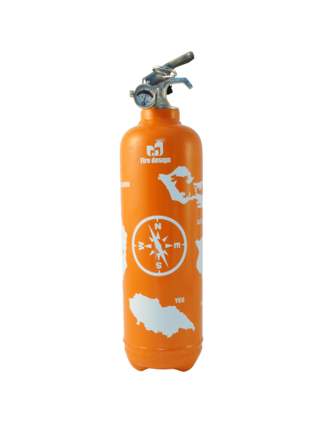 Fire extinguisher design atlantic orange