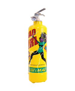 Fire extinguisher design Bad Girl yellow