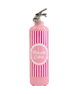Fire extinguisher design Biscuits cakes light pink