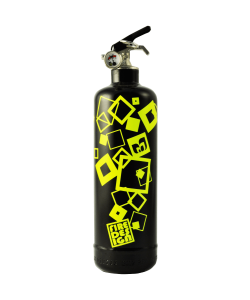 Fire extinguisher design Carrés blanc