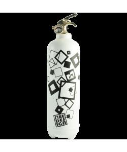 Fire extinguisher design Carrés white