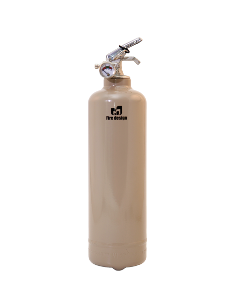Fire extinguisher design light brown