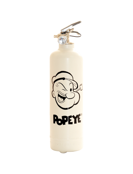 Fire extinguisher design Popeye Classic white