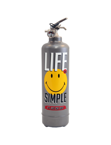 Extincteur design Smiley Life gris