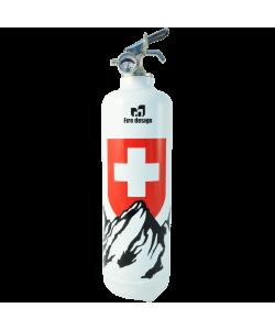Extincteur design deco Petit Suisse blanc