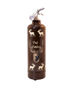Fire extinguisher design Parischeri Troupeau de Cerfs brown