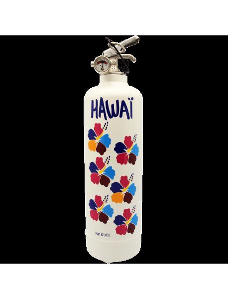Extincteur design POP LOLLI Hawaii blanc