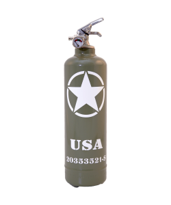 Fire extinguisher design Willys USA khaki