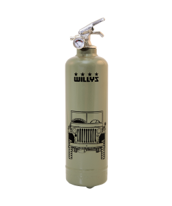 Fire extinguisher design Willys Jeep
