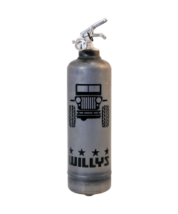 Fire extinguisher design Willys Jeep raw vintage