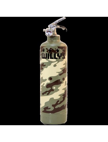 Extincteur design Willys military kaki