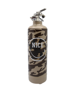 Fire extinguisher design Smiley Nice Military light brown