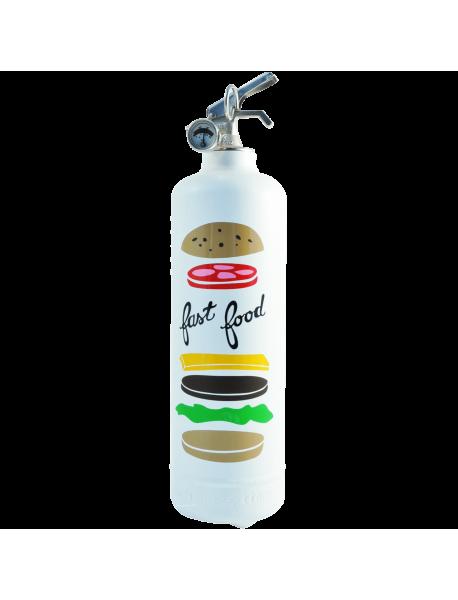 Extincteur design AKLH Fast Food blanc