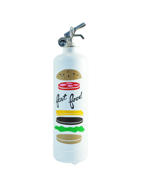 Fire extinguisher design AKLH Fast Food white
