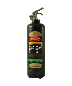 Fire extinguisher design AKLH Fast Food black