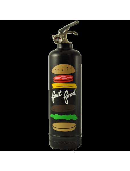 Extincteur design AKLH Fast Food noir