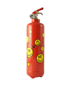 Fire extinguisher design Smiley urgences red