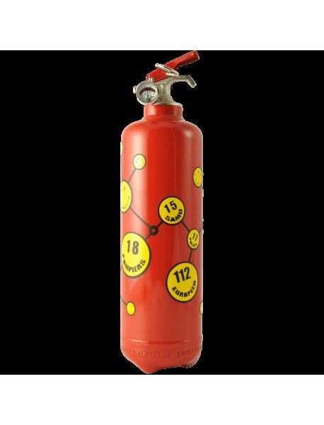 Fire extinguisher design Smiley urgences red