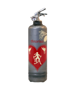 Fire extinguisher design Parischéri Coeur des Neiges vintage