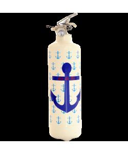Extincteur design Parischéri Ancre Marine blanc