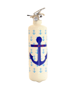 Fire extinguisher design Parischéri Ancre Marine white