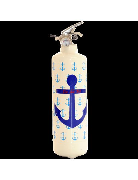 Extincteur design PC Ancre Marine blanc