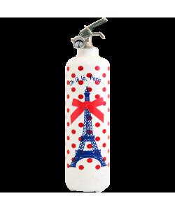 Extincteur design Parischeri Oh la la Paris blanc