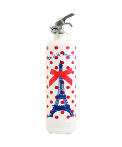 Fire extinguisher design Parischeri Oh la la Paris white