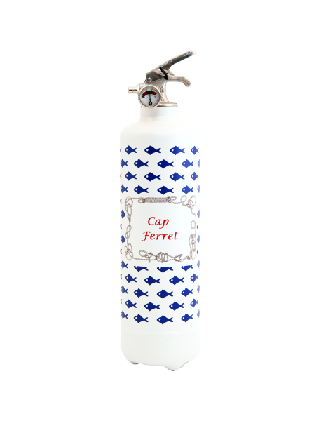Fire extinguisher design PC Petit poisson white