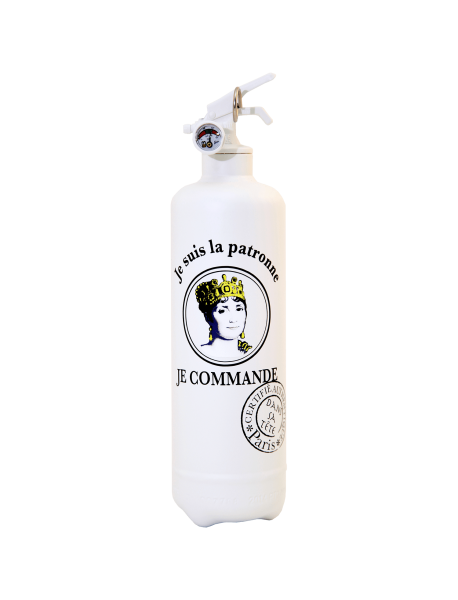 Fire extinguisher design DST Patronne white