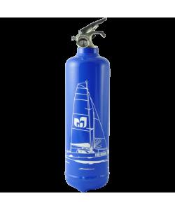 Estintore design Catamaran blu