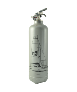 Fire extinguisher design Catamaran grey