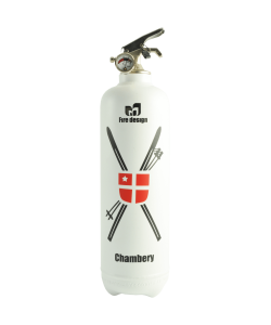 Fire extinguisher design Chambery white