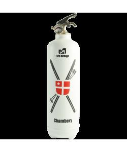 Fire extinguisher design Chambery white