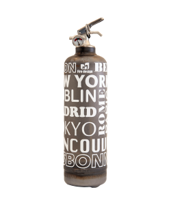 Extincteur Fire design City brut blanc