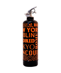 Fire extinguisher design City black orange