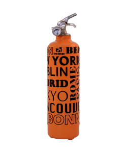 Fire extinguisher design City orange black