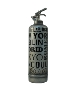 Fire extinguisher design City raw black