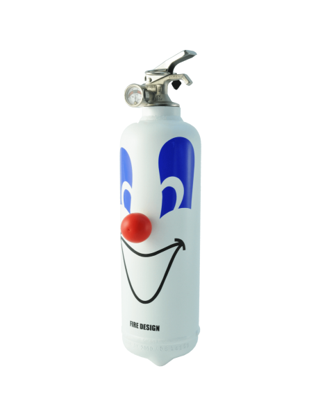 fire extinguisher design clown white