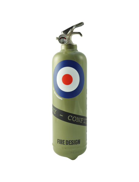 fire extinguisher design cocarde khaki