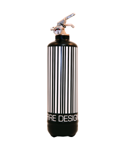 fire extinguisher design code barre black white