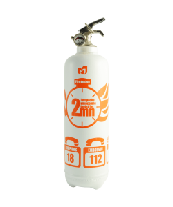 fire extinguisher design chrono white