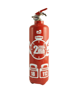 fire extinguisher design chrono red
