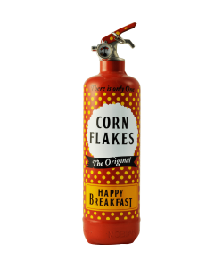 fire extinguisher design corn flakes red
