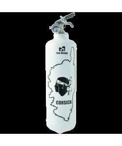 Extincteur design Corsica blanc