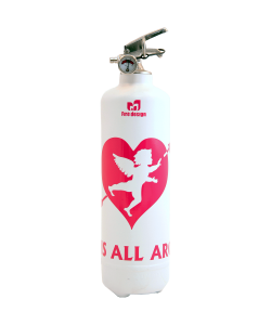 fire extinguisher design cupidon white pink