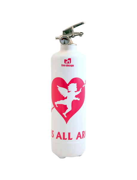 fire extinguisher design cupidon white pink