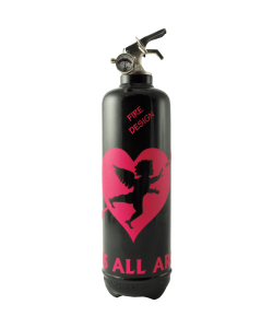 fire extinguisher design cupidon black pink